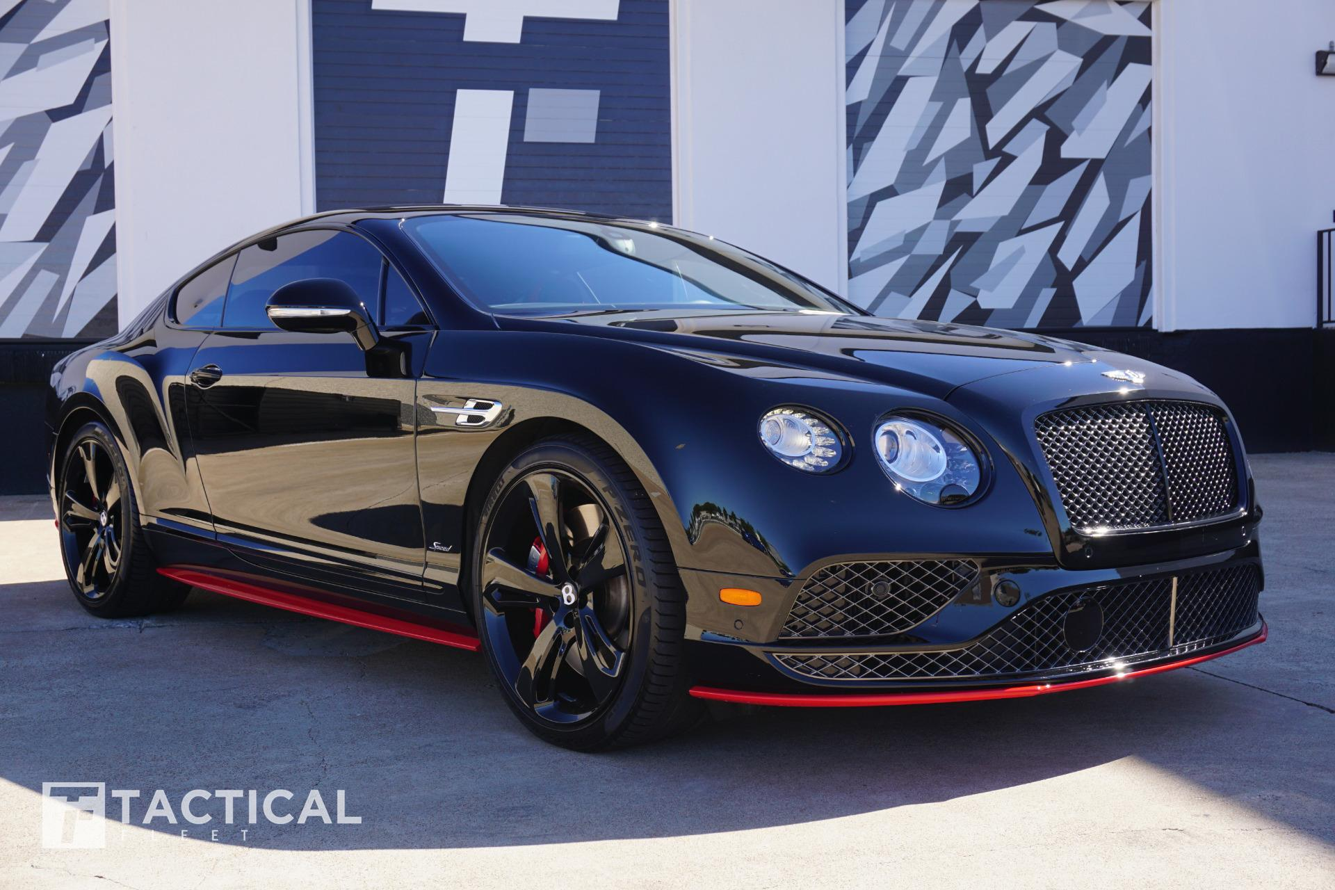 Used 2017 Bentley Continental Gt Speed Black Ed For Sale 174 900 Tactical Fleet Stock Tf1233